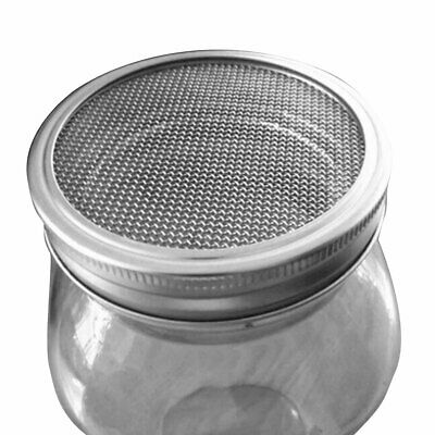 5 Stainless Steel Sprouting Strainer Lid Filter Screen for Wide Mouth Mason Jars