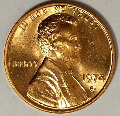1974-S 1C Lincoln Memorial Cent 18ll0927-a  BU Only 50 Cents for Shipping*