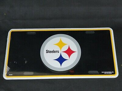 """Pittsburgh STEELERS  Aluminum License Plate Tag Authentic size 6/"""" x 12/"""" 32G"""