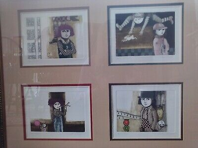 Mid Century LETICIA TARRAGO Mexico Series Of Four Etchings, Signed 24/100 Framed