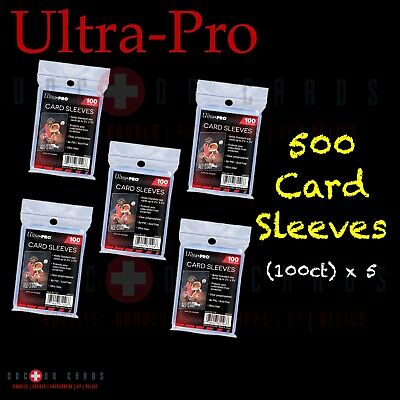 500 CT PENNY SLEEVES (100 PACK X 5) ULTRA PRO CARD Protector (Five Pack Bundle)