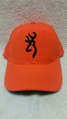 9f802bd31 BROWNING BLAZE ORANGE/BLACK Hunter Adjustable Snapback Baseball Cap Hat NWOT