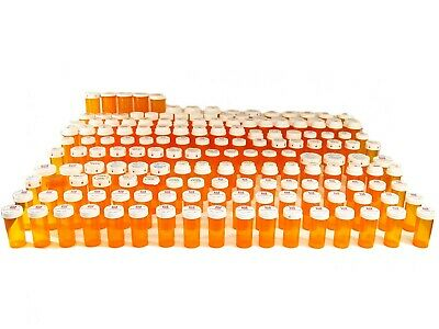 170 Empty Amber Colored Prescription Pill Bottles Lot Various Sizes