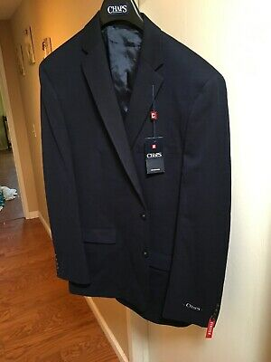 Men/'s Chaps Slim-Fit Sport Coat Gray Jacket Sizes NWT Ret $220 Polyester//Rayon