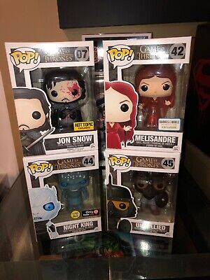 FUNKO POP GAME OF THRONES MELISANDRE TRANSLUCENT & Unsullied & Night King Glow