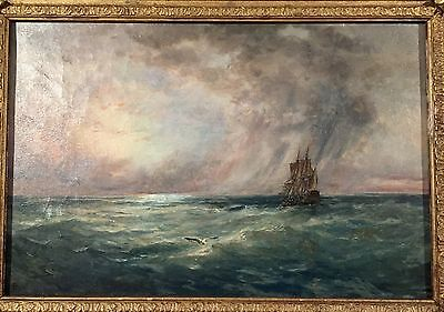 Nice Earlier 20Th Century Oil On Canvas Seascape Signed  A. Butler
