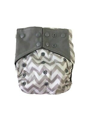 Cloth Diaper Cover Bamboo Charcoal One Size Reusable Washable Chevron USA SELLER