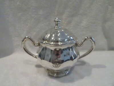 early 20th c french sterling silver large sugar bowl G Keller Louis XIV st