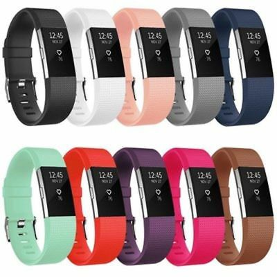 Watch Band For Fitbit Charge 2 Bracelet Band Strap Wristband Silicone 10 Pack