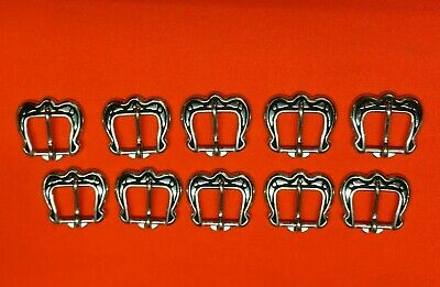 Leather Hardware - LOT of 10 JEREMIAH WATT Horseshoe Brand Buckles #4414 - 5/8""