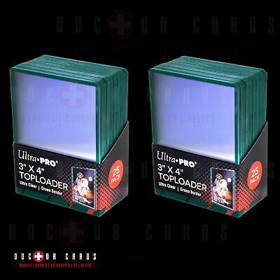 50 TOPLOADERS with 100 CARD SLEEVES (Ultra Pro Brand) Bundled Set