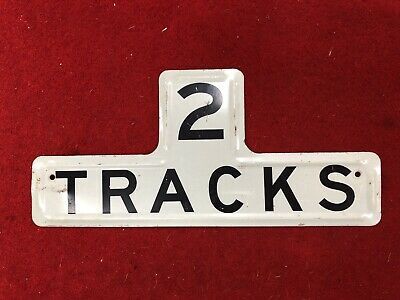 Victorian Railways Crossing Sign 2 Tracks
