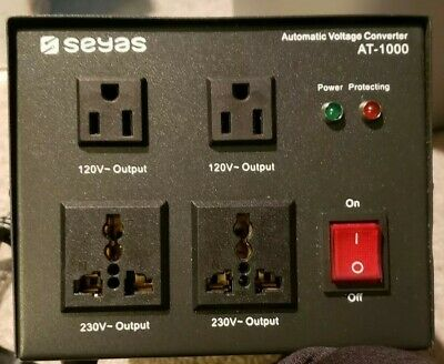 Seyas Automatic Voltage Converter AT- 1000, NEW, Circuit Breaker, Input Breaker,