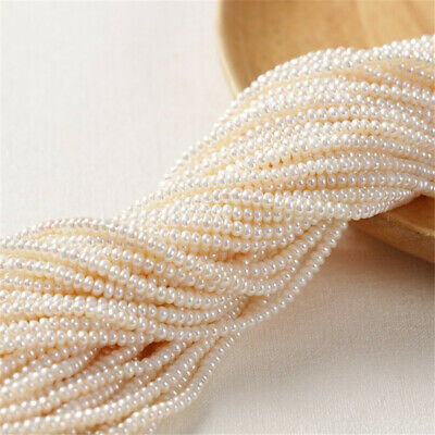 3.5-5mm Freshwater pearl round bead necklace delicate AAAA irregular