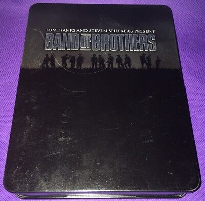 Band of Brothers (DVD, 2002, 6-Disc Set). Collectors tin In Good Condition