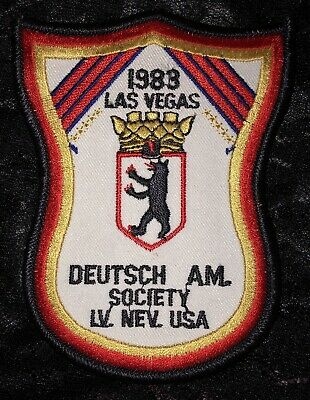 1983 Deutsch Am Society Las Vegas Nevada Patch - German American Club - Vintage