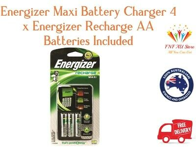 Energizer Maxi Battery Charger 4 x Energizer Recharge AA Batteries Included