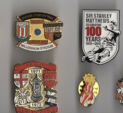STOKE CITY Bristol Cheltenham Lincoln Sunderland  Badge Pin Enamel Simpson