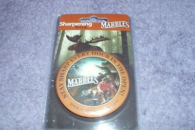 Marbles MR372 Metal Button Style Round Sharpener with Marble's Logo Artwork