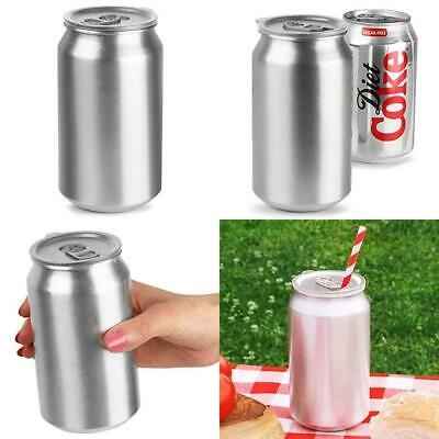 bar@drinkstuff Aluminium Drinks Can Cup with Lid 500ml - Pack of 4 - UK...