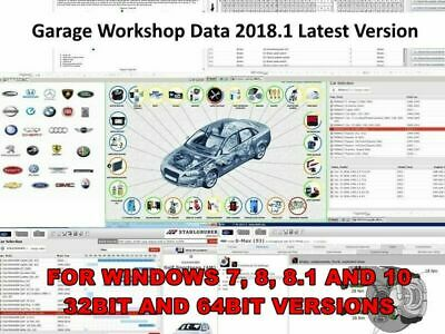 Garage Workshop Data Software New 2018.1 - Fast secure download.