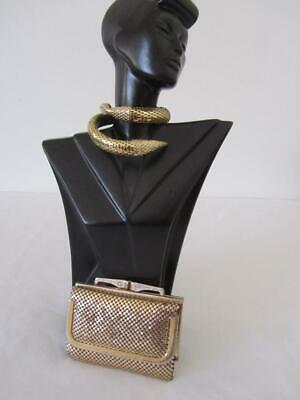 Vintage GLOMESH Gold Ladies Tri-Fold WALLET Purse