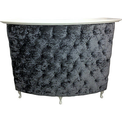 Curved Reception Desk-Retail Cash desk with crushed padded front
