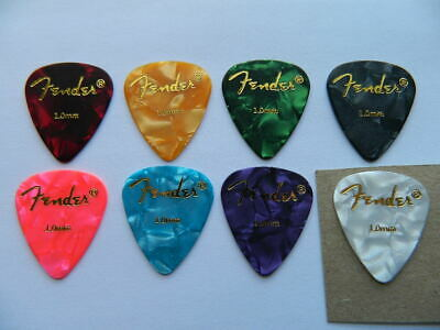 8 x Authentic Fender 1mm Top Quality Celluloid Plectrums Picks Speedy Post