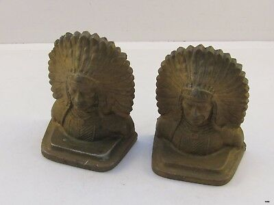 Vintage Matching Pair of Cast Iron Bookends : Marked FAY