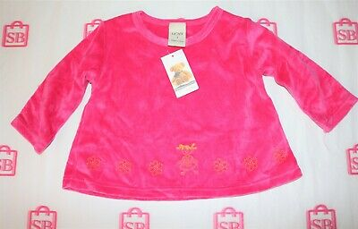 NOW Brand Pink Embroidered Pattern Long Sleeve Top Size 1 BNWT #GIR1