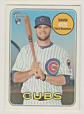 2018 Topps Heritage High Number #540 DAVID BOTE RC Rookie Cubs QTY AVAILABLE