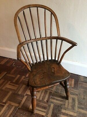 Antique Child's Windsor Hoop Back Chair