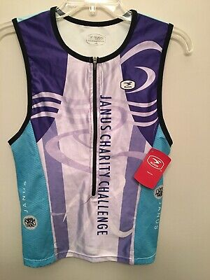 New Sugoi Fuel tri tank black white red women/'s cycling sleeveless top L S M XS