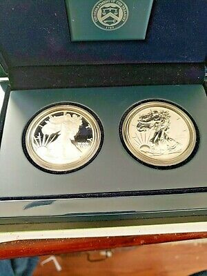 2012 S American Silver Eagle 2 Coin US Mint set w/complete Government Packaging