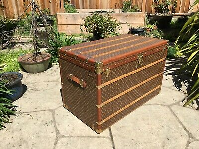 LOUIS VUITTON MALLE 110 High trunk Monogram Steamer Trunk chest purse bag LV