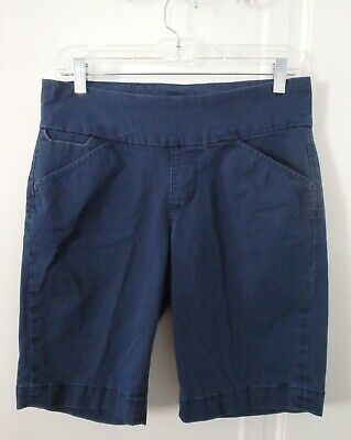 7c9ed0e6983a Jag Jeans Ainsley Bermuda Shorts Womens 6 Small Elastic Pull On Blue Gray  Flat
