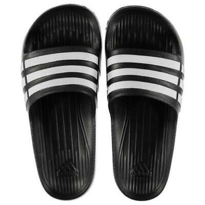 1f74ec5a5 Nwt Adidas Duramo G15890 Black White Size 11 Slides Sandals Flip Flops  Shower