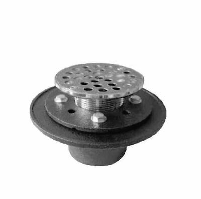 "PROFLO PF42957RD Chrome/Cast Iron Round Shower Drain (2"" IPS Connection)"