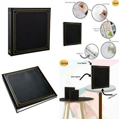 ARPAN Large Slip In Photo Album Holds 500 Photos 6'' x 4'' Gold Stamp Padded...