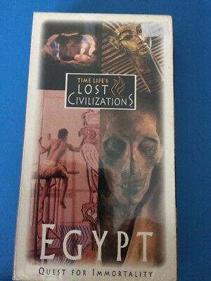 """Time Life Lost Civilizations Ancient Egypt VHS """"Quest for Immortality"""" Ramses II"""
