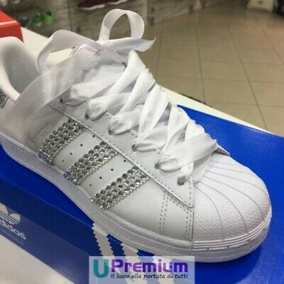Adidas Superstar Strass CustomizzatoScarpe Origina Swarovski Weddingprodotto lFJcTK1