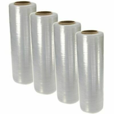 "18"" x 1500' 80 Gauge Pallet Wrap Stretch Film Shrink Hand Wrap 1500' 4 Rolls"