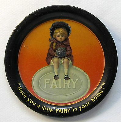 early FAIRY SOAPS tin litho tip tray ashtray