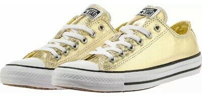 203d750cacbf Converse men s Shoes Chuck Taylor All Star High Light Gold White NEW Multi  size