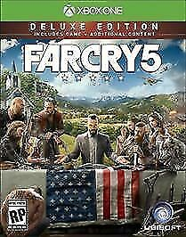 BRAND NEW SEALED Ubisoft Far Cry 5 Deluxe Edition (Xbox One)