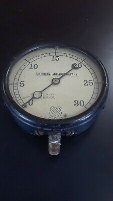 Vintage Antique Early American Radiator Co Gauge Steampunk Insustrial Lamp Decor
