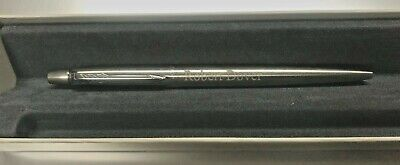Personalised Engraved PARKER Jotter Ballpoint Pen Silver on Silver