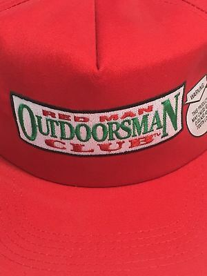 343b654db06 Vtg RED MAN K-PRODUCTS Chewing Chew Tobacco Cap Hat USA Outdoorsman Club  Redman
