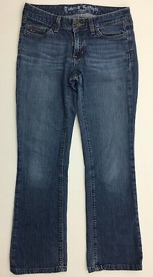 Tommy Hilfiger Womens Jeans Low Rise 28 Inch Inseam Waist Bootcut Blue Denim