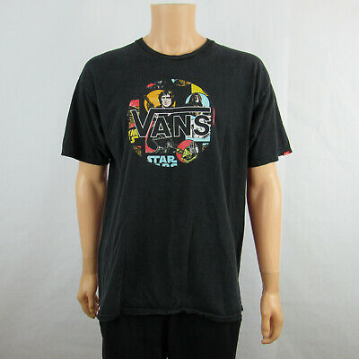 9eecccba5 Vans Star Wars Mens Graphic T Shirt Faded Black Size XL Short Sleeve